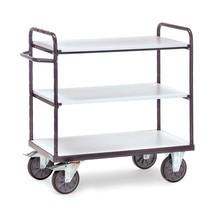 Etážový vozík fetra® ESD, dřevěné police