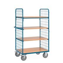 Etážový vozík fetra® spevnými policemi