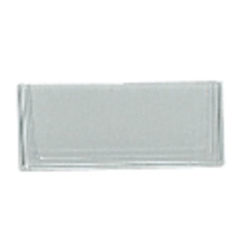 Etiketten für Regalkästen aus Polypropylen ohne Sichtöffnung, transparent