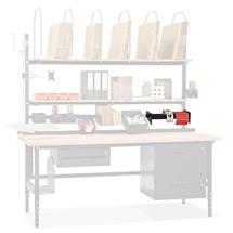 Etikettenrollenabroller für Ablagen (800mm), für Lochblech oder Querträger