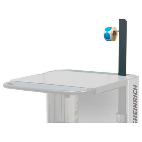 Etikettenrollenhalter für mobilen Arbeitsplatz Jungheinrich