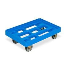 Euro box trolley in polyethylene