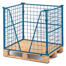 Euro-Gitteraufsatz eins. offen, 3-fach stapelb., Nutzhöhe bis 1600mm, bis 1000kg