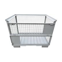 Euro-Gitterbox, mit Stahlblechboden