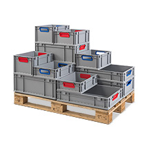 Euro-Stapelbehälter aus Polypropylen. Maß (LxBxH)  400 x 300 x 120 mm