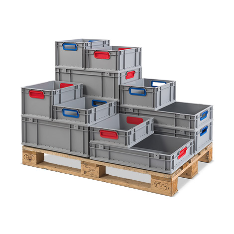 Euro-Stapelbehälter aus Polypropylen. Maß (LxBxH)  600 x 400 x 170 mm