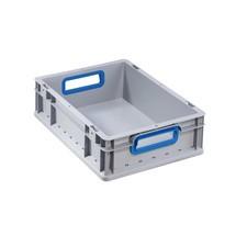 Euro-Stapelbehälter, mit blauen Grifföffnungen