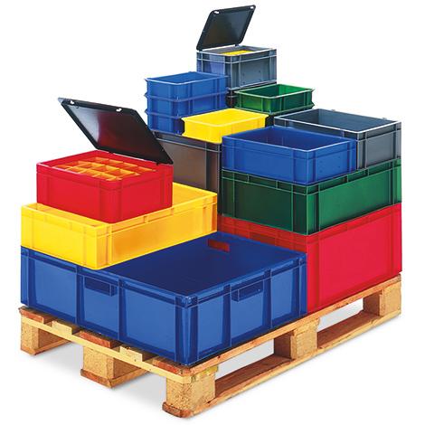 Euro-Transport-Stapelkasten aus Polypropylen. Maß 800 x 600 mm (LxB)