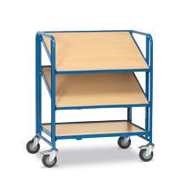 Eurokasten-Etagenwagen fetra®. 3 Holzböden für Kunststoffkästen, Tragkraft 200kg