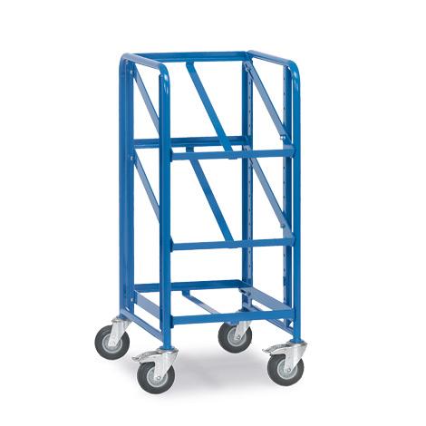 Eurokasten-Etagenwagen fetra® für 3 Kästen auf 3 Etagen. Tragkraft 200kg