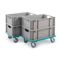 Eurokasten-Roller Ameise®, 2er Set + Euro-Stapelbehälter, 4er Set