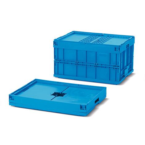 Euronorm-Faltbox Premium mit Deckel. Inhalt 172 Liter