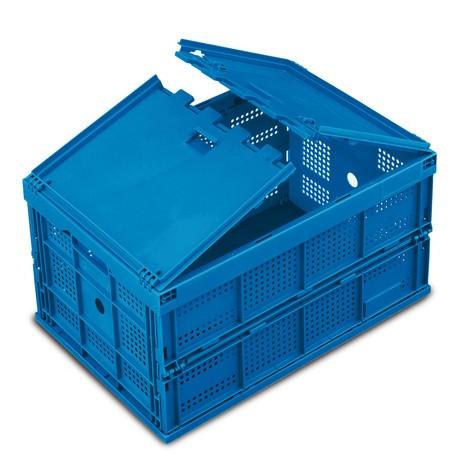 Euronorm-Faltbox Premium, mit gelochten Seitenwänden