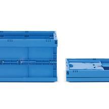 Euronorm-vouwbox Premium met greepuitsparing. Inhoud 59 liter