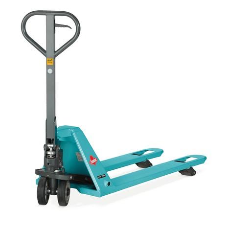 Extra úzky ručný paletový vozík so zníženým podvozkom Ameise® PTM 1.5, dĺžka vidlíc 1150 mm