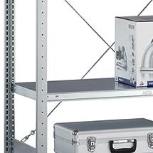 Fachboden für Fachbodenregal META Schraubsystem. Fachlast 100kg, lichtgrau