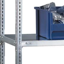 Fachboden für Fachbodenregal META Schraubsystem. Fachlast 80kg, 1250x400mm