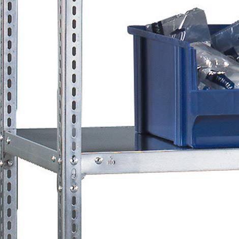 Fachboden für Fachbodenregal META Schraubsystem. Fachlast 80kg, 1250x500mm