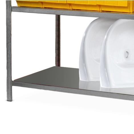 Fachboden für Fachbodenregal, mit Stahlblechauflagen, verzinkt