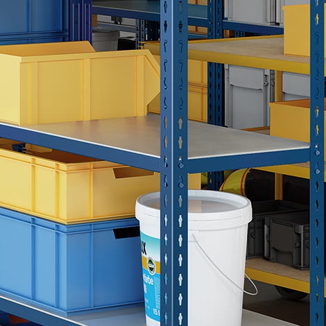 Fachboden für Fachbodenregal Stecksystem. Fachlast bis 250kg, verzinkt