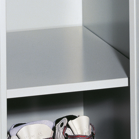 Fachboden für Garderobenschrank Belüftungslochfeld, 400mm