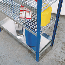 Fachboden für Gefahrstoffregal, entzündbare, gewässergefährdende Flüssigkeiten