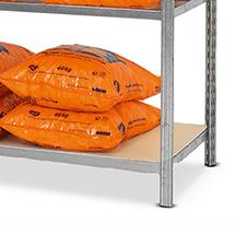 Fachboden für Stahlrohr-Fachbodenregal Steck.. Spanplatten. Fachlast bis 190 kg