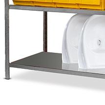 Fachboden für Stahlrohr-Fachbodenregal Steck.. Stahlblech. Fachlast bis 95 kg