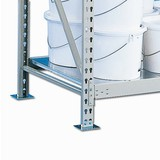 Fachboden für Weitspannregal META, mit Stahlpaneelen, Fachlast 600 kg