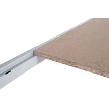Fachboden für Weitspannregal, mit Spanplatten, himmelblau/lichtgrau