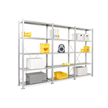 Fachbodenregal Komplettpaket, Stecksystem, 2000x3000x500 (HxBxT),