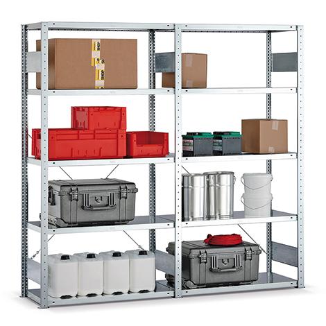 Fachbodenregal META Premium Stecksystem Komplettpaket. Fachlast 150kg
