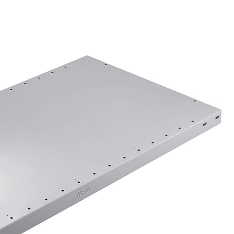 Fachböden für Doppel-Fachbodenregal Stecksystem, lichtgrau, Fachlast bis 230 kg