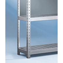 Fachebenen mit Stahlpaneelen für Weitspannregal Stecksystem, Fachlast bis 500 kg