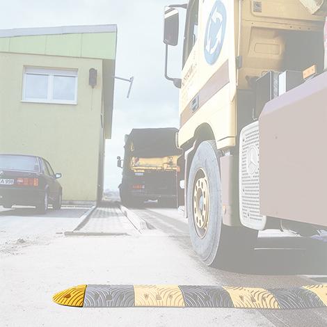 Fahrbahnschwelle Abschlusselement, Richtgeschwindigkeit bis 20km/h