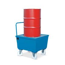 Fahrbare Auffangwanne , für 1 stehendendes 200 Liter Fass