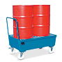 Fahrbare Auffangwanne , für 2 stehende 200 Liter Fässer