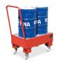 Fahrbare Auffangwanne , für 2 stehende 60 Liter Fässer