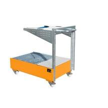 Fahrbare Auffangwanne LPW, inkl. Lochplattenkonsole u. Haltegurt