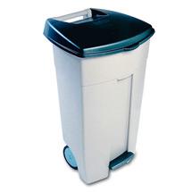 Fahrbare Mülltonne mit Pedal 100 Liter