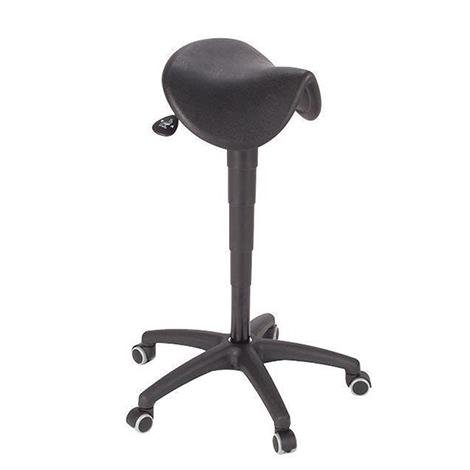 Fahrbare Stehhilfe mit Sattelsitz, mit Rollen