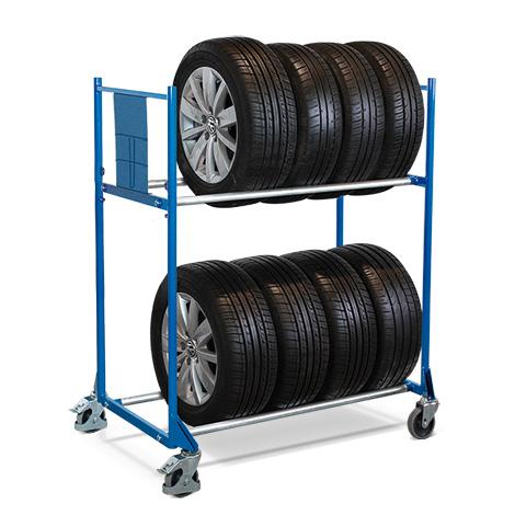 Fahrbares Reifenregal für Reifen mit Raddurchmesser 540 - 820 mm