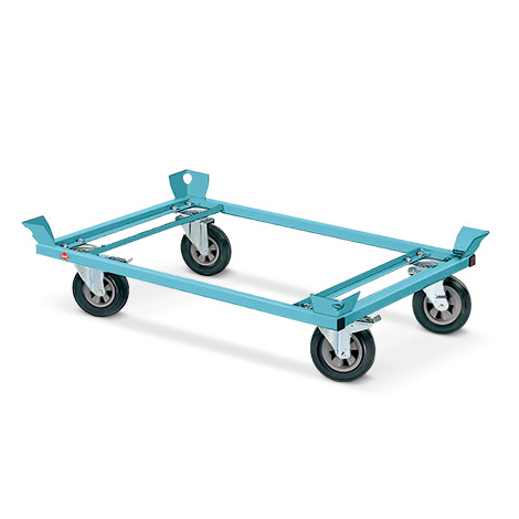 Fahrgestell Ameise ® mit Fangecken. Ladehöhe bis 650 mm, Tragkraft 1000kg