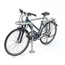 Fahrradständer Anlehnbügel Rundbogen. Länge 1000 - 2000 mm