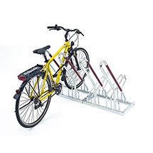 Fahrradständer Anlehnparker, einseitig. Länge 1000 - 3000 mm