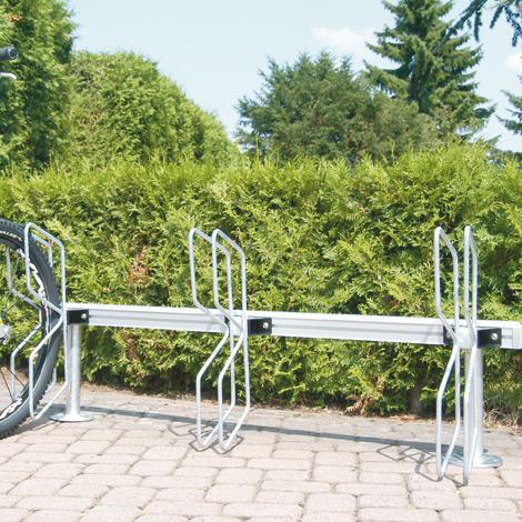 Fahrradständer PAPILLON in Reihenaufstellung, einseitig, 3 - 11 Stellplätze