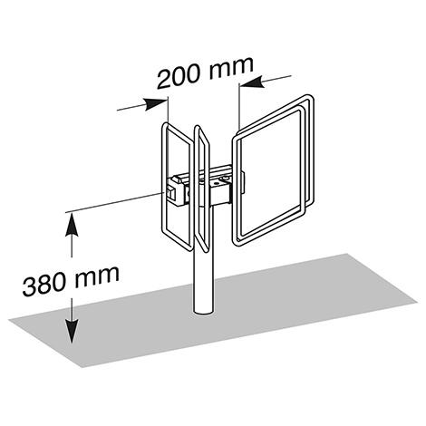 Fahrradständer QUADRO einzeln, einseitig, 1 - 3 Stellplätze
