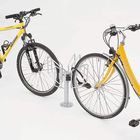 Fahrradständer QUADRO einzeln, zweiseitig, 2x1 - 2x3 Stellplätze