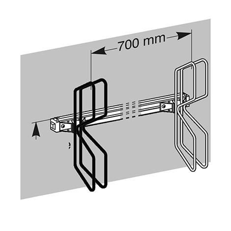 Fahrradständer QUADRO in Reihenaufstellung, 3 - 11 Stellplätze