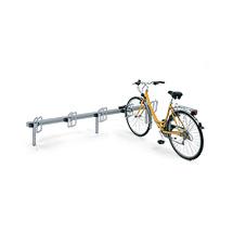 Fahrradständer QUADRO in Reihenaufstellung, einseitig, 3 - 11 Stellplätze